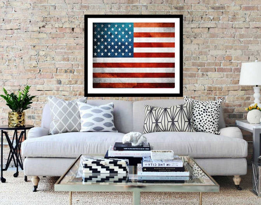USA Flag, State wall art, Vintage American Flag Print wall art decor