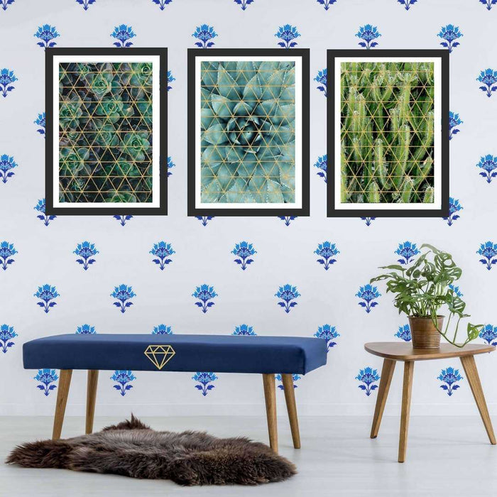Cactus wall art framed Set of 3