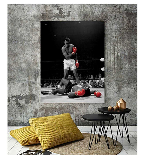 Muhammad Ali poster vs Sonny Liston framed wall art poster home wall decor