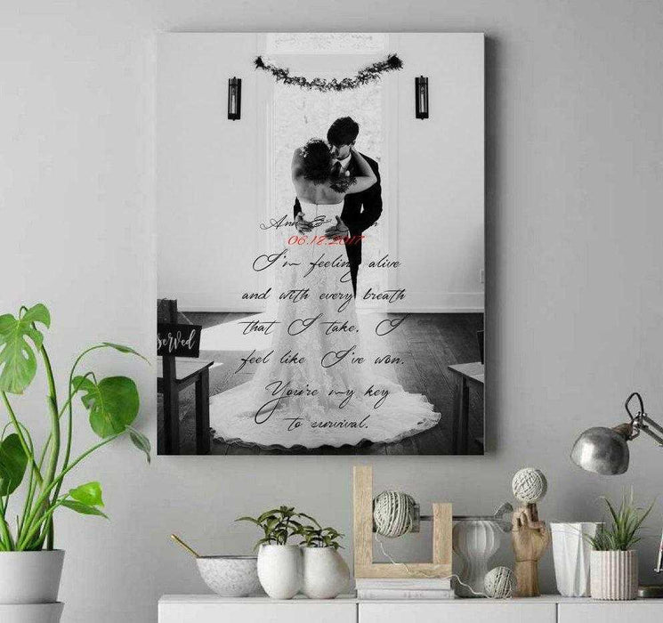 Custom personalized gift for wedding first dance song lyric wall art framed wall art decor
