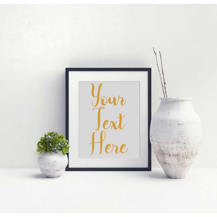 Custom Personalized Typography wall art sign quote Framed or unframed