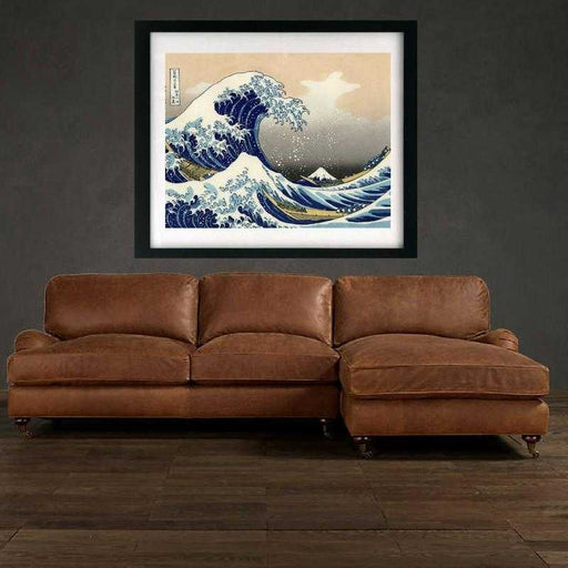The Great Wave off Kanagawa by Katsushika Hokusai Framed art print decor
