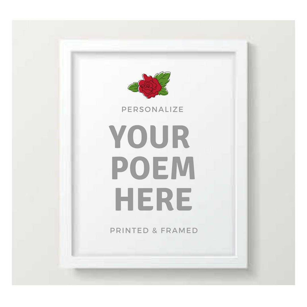 poem print, frame poem print, Custom sign, Custom birthday,Custom Art, Framed Art, custom quote, Wall Art, Framed quote poster
