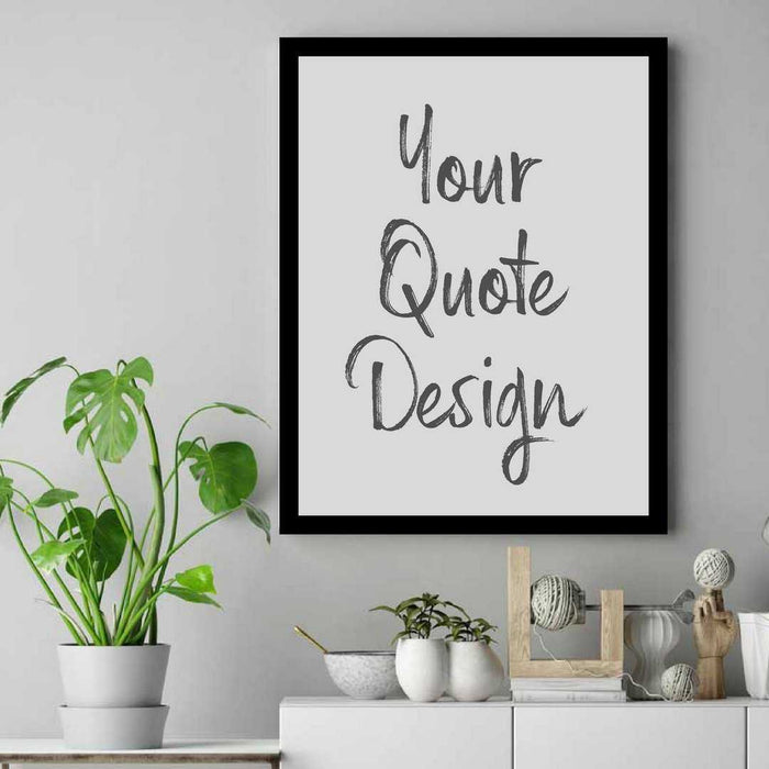 Custom Poster print with your text wall art framed wall art decor