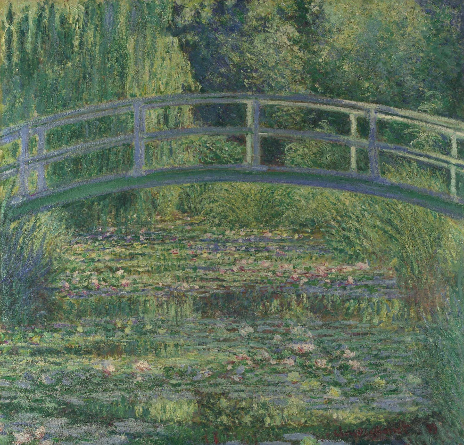 "Pink Harmony, The Waterlily Pond, 1899"" by Claude Monet Framed Painting Print,, Wall decor wall art decor"