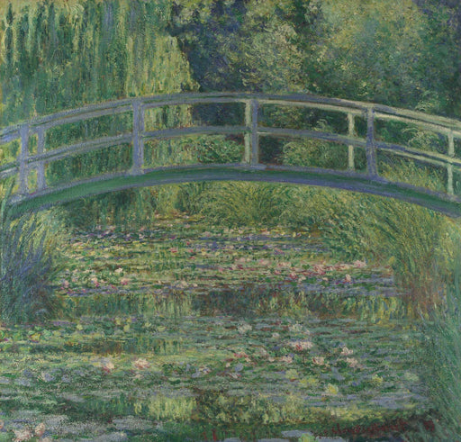 Pink Harmony The Waterlily Pond by Claude Monet Framed wall art print decor