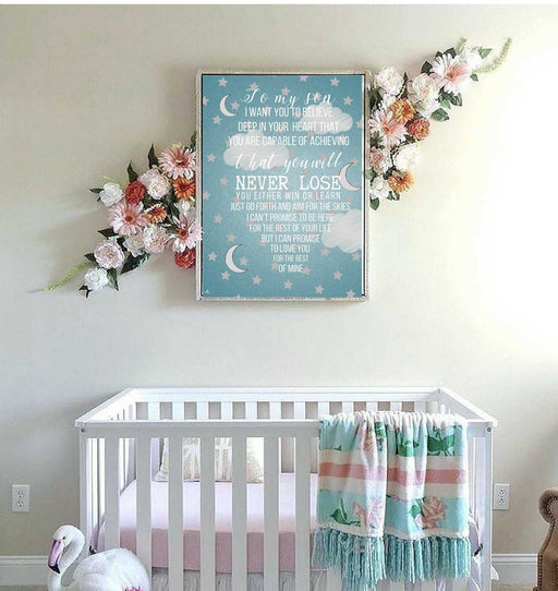 Nursery wall art framed decor