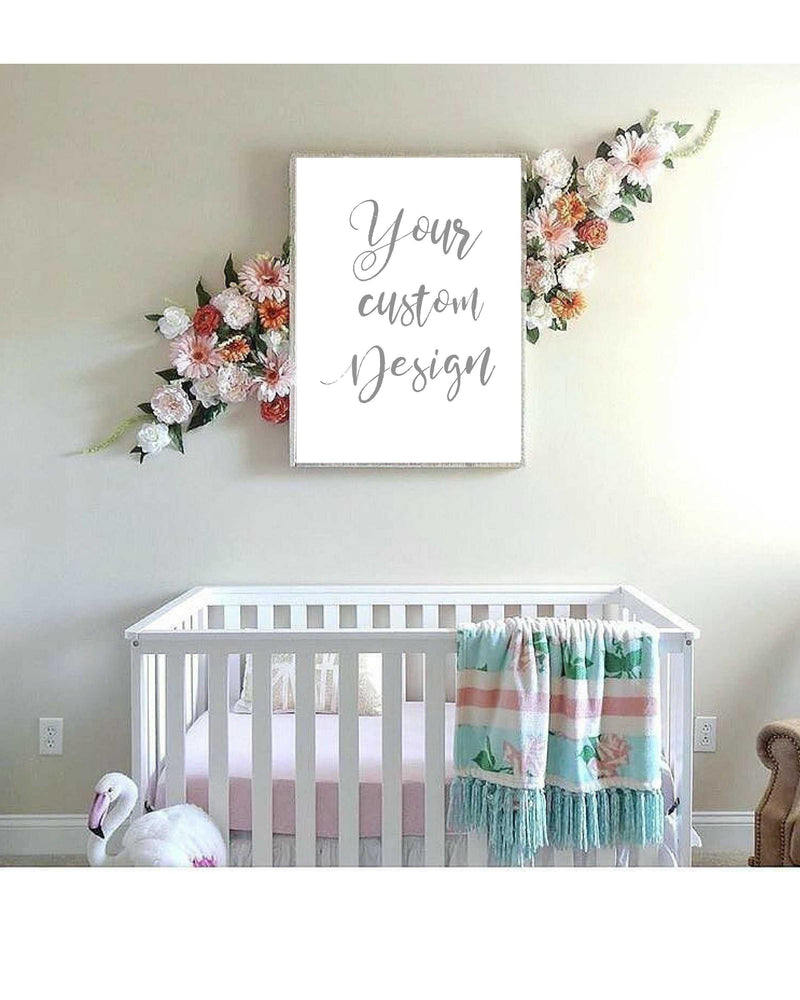 Custom quote typography Wall art for Nursery decor Baby room art decor