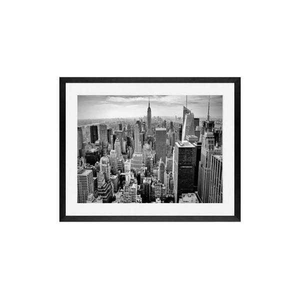 New York city framed art print black and white