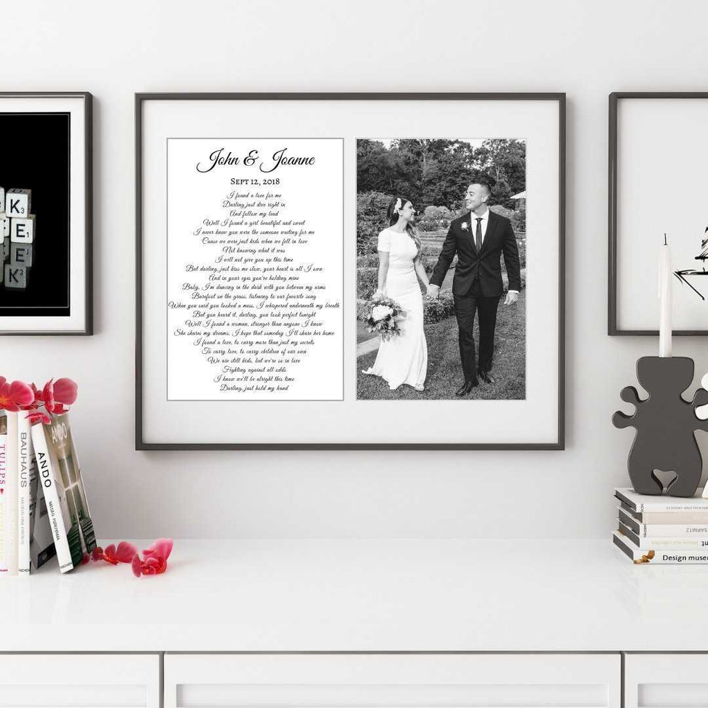 Anniversary gift personalized with your wedding photograph
