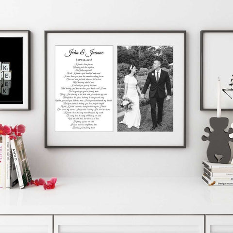 wedding song lyric art custom personalized for wedding anniversary, Custom art print sign, Song lyrics typography