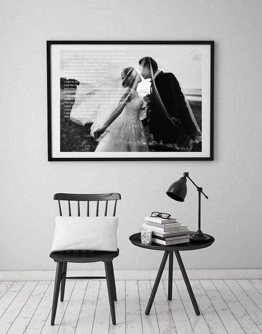 Wedding Song First Dance Lyrics Anniversary Gifts wall art