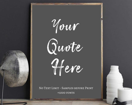 Your text typography framed home art