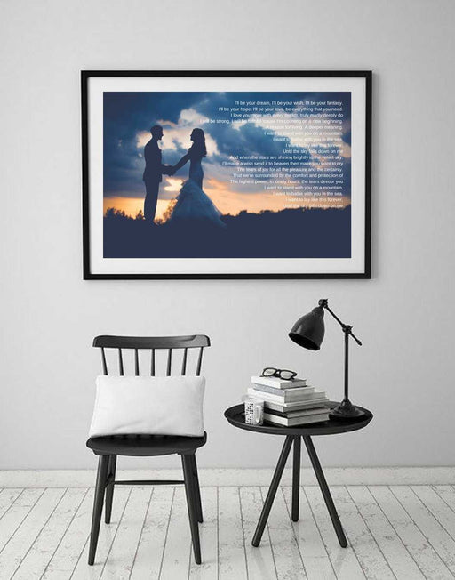 Wedding Anniversary Gift for him her wall art for 1st anniversary gift 2nd anniversary gift 5th anniversary
