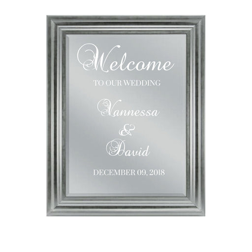 Welcome Mirror Wedding sign Custom Personalized Wedding decor