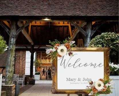 Wedding Welcome sign, Welcome sign, Wedding decor, Wedding decor, mirror sign, Custom Personalized, Rustic wedding, Custom Signs wall art decor