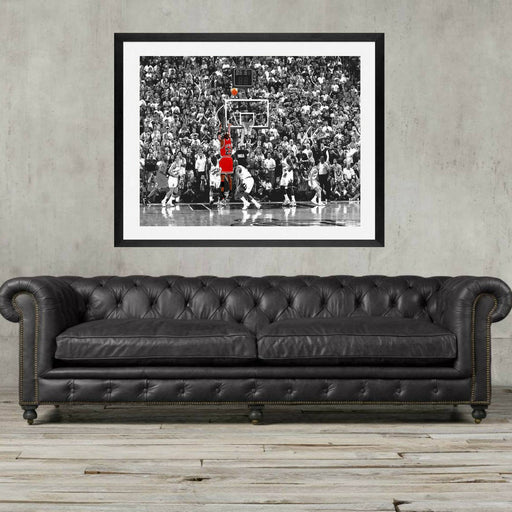 Michael Jordan poster, Chicago bulls michael jordan poster, buzzer beater Jordan, gift for him, basketball fan