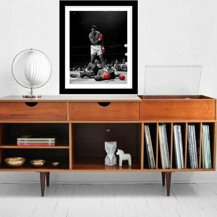 Muhammad Ali poster vs Sonny Liston wall art print framed