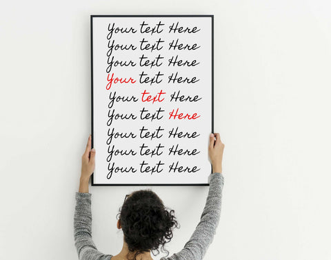 Personalized poem print wall art framed or art print