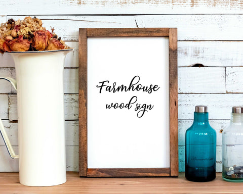 Custom Personalized Farmhouse Style Rustic wood sign