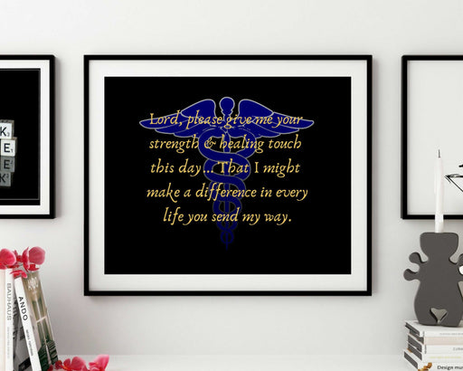 Nurse framed wall art gift