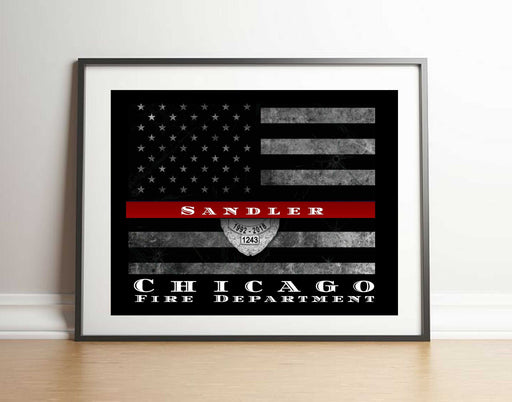 Custom Firefighter Thin Red Line Flag Custom made