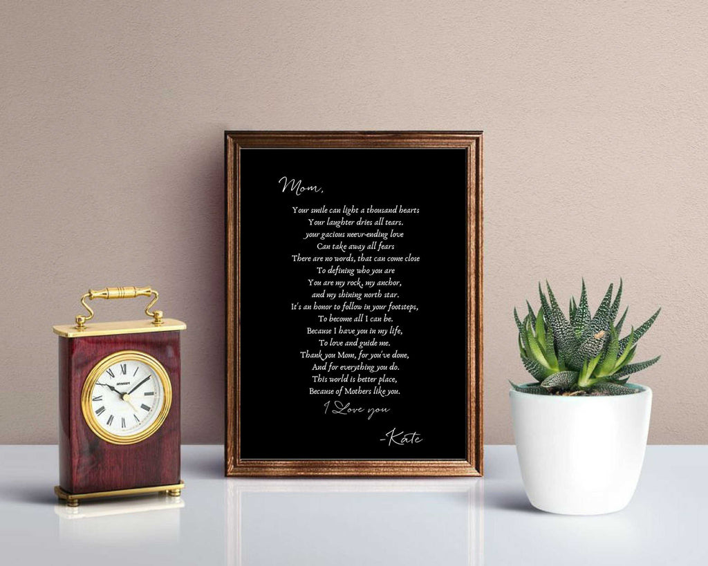 Gift for Mom from Daughter, Gift for Mom from Son, Personalize Gift for Mom Mus print, birthday,Custom personalized moms gift, Mothers day