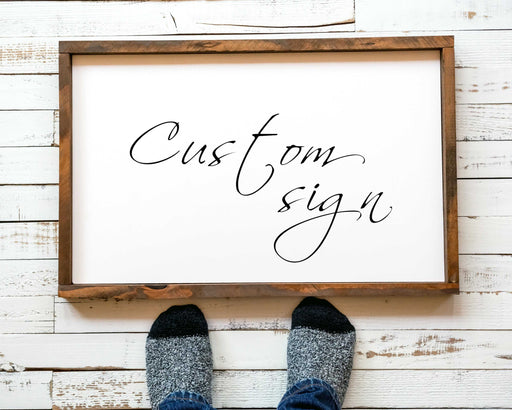 Wood sign custom personalized 11x14 inch