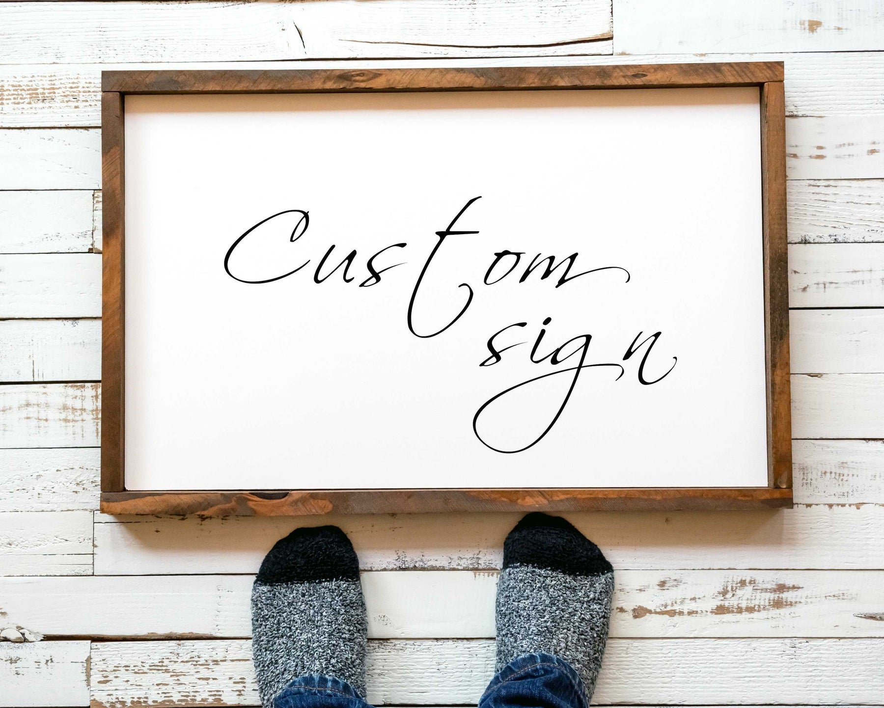 Custom Personalized Typography Framed wall art print
