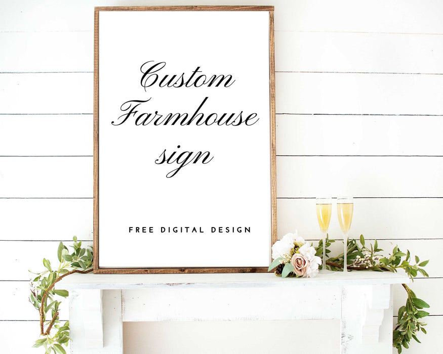 farmhouse sign custom made quote wood sign framed