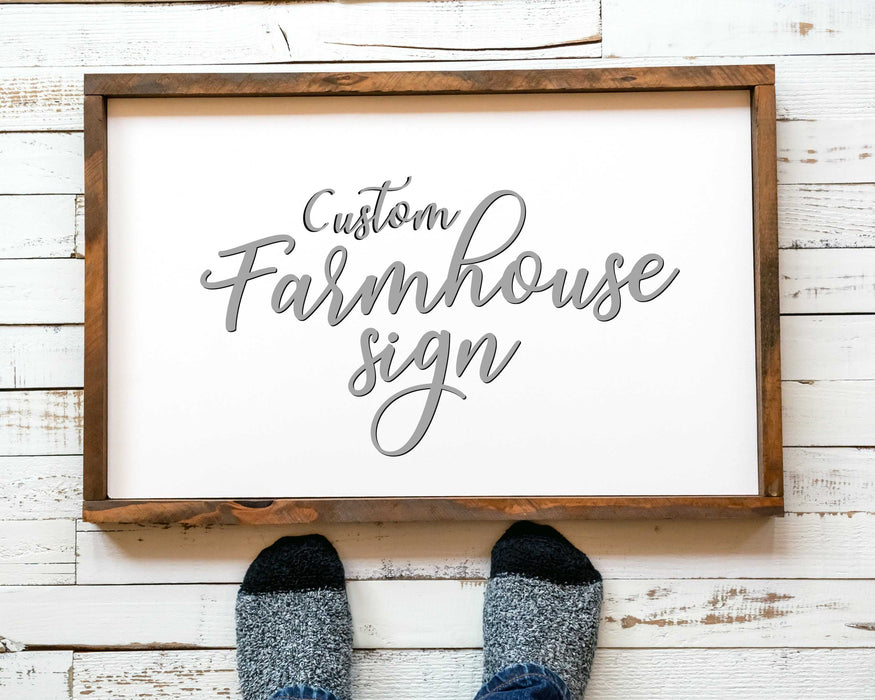 Custom Farmhouse Signs Custom Wood Signs for Farmhouse Decor, Wood custom Sign wall art decor