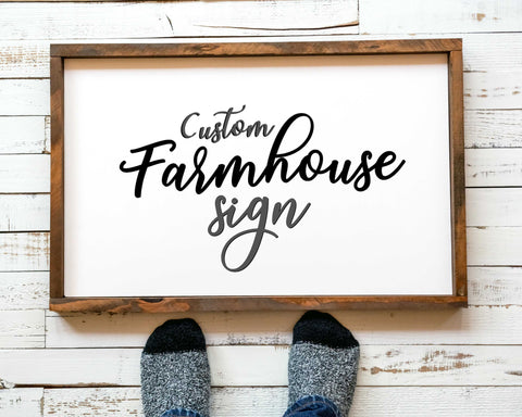Farmhouse Decor Of Custom Wood Sign Farmhouse Signs With Custom Text