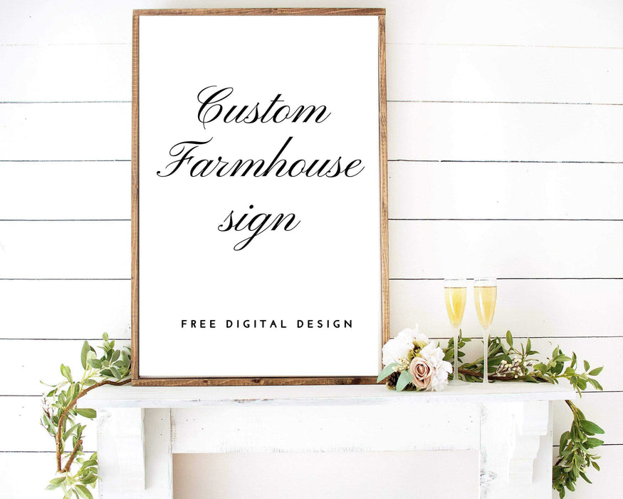 Personalized Farmhouse signs wall art home decor wall art decor