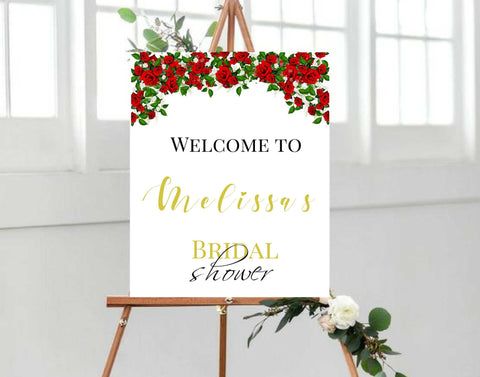 Personalized Bridal shower or wedding welcome sign