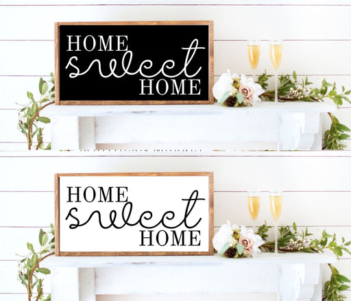 home sweet home farmhouse decor wood sign wall art