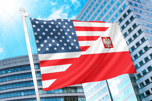 Polish American Flag 3x5 feet Double sided Polska Poland Flaga