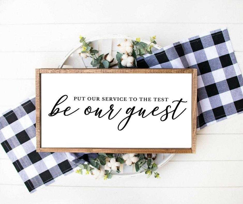 Be our guest wood sign wall art farmhouse decor