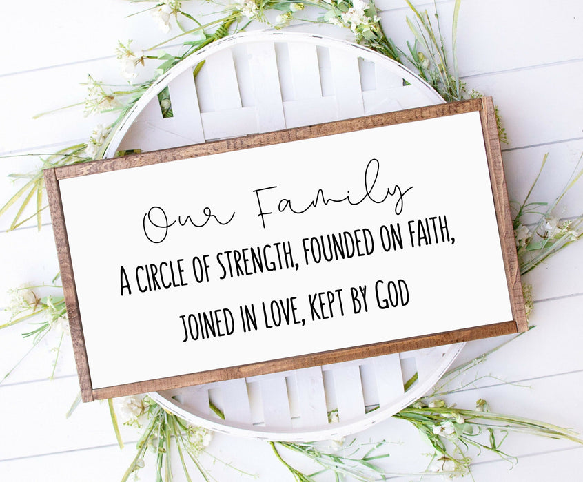 Our family sign Farmhouse Wood sign, Farmhouse style wood sign with Bible verse