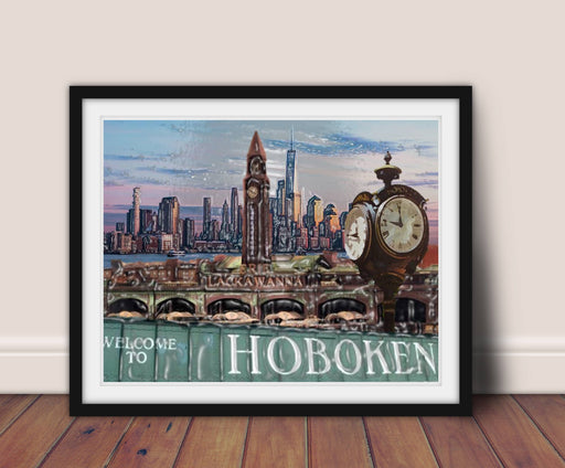 Hoboken NJ Wall Art Print Framed home decor Hoboken New Jersey art wall art decor