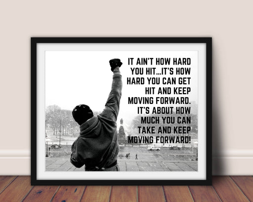 Rocky Balboa Quote Framed Art Motivational Poster