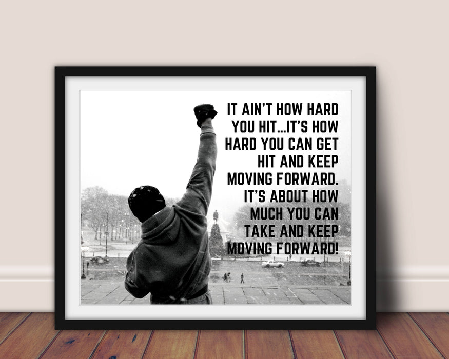 Rocky Balboa quote framed poster Motivational Poster print