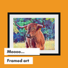 Highland Cow framed Art Print home decor