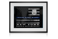 NYPD Thin Blue Line Flag Customized Personalized Police officer wall art Wall Decor