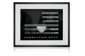 Correctional Officer Thin Gray Line Flag Framed