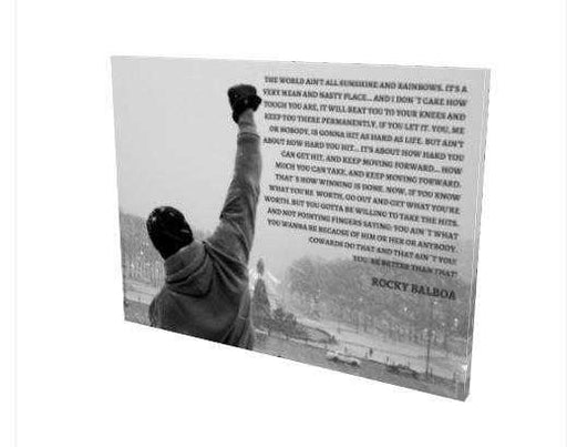 Rocky balboa Quote Canvas Print Wall Decor