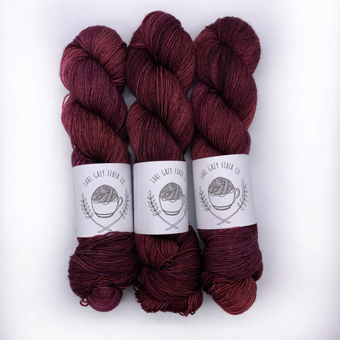 Earl Grey Fiber Co Plum Tart Sock weight