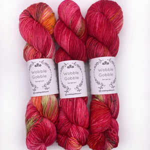 Wobble Gobble Rose DK weight