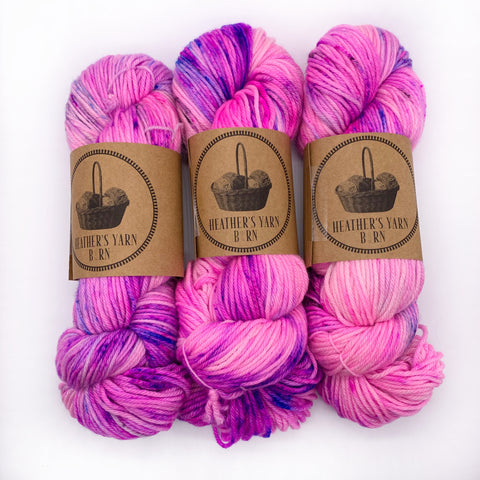 Heather's Yarn Barn Bubbilicous Gum Worsted weight