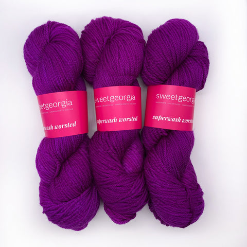 Sweet Georgia Grape Jelly Worsted weight