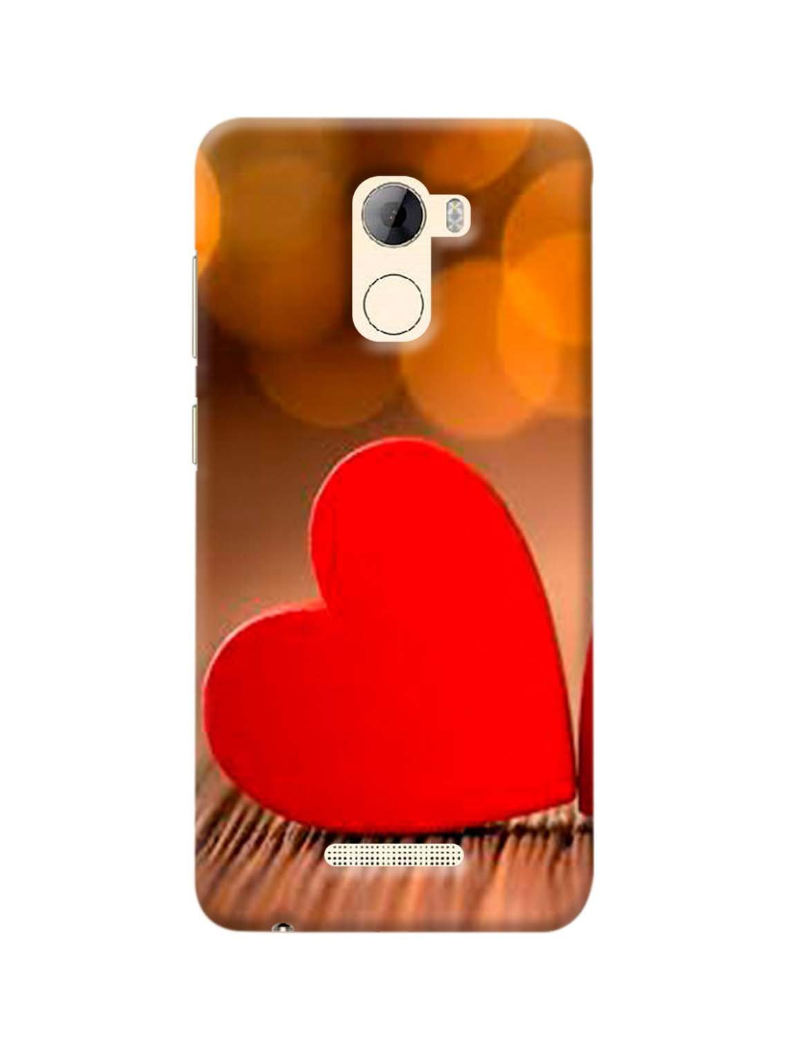 Red Heart Printed Mobile Case For Gionee A1 Lite